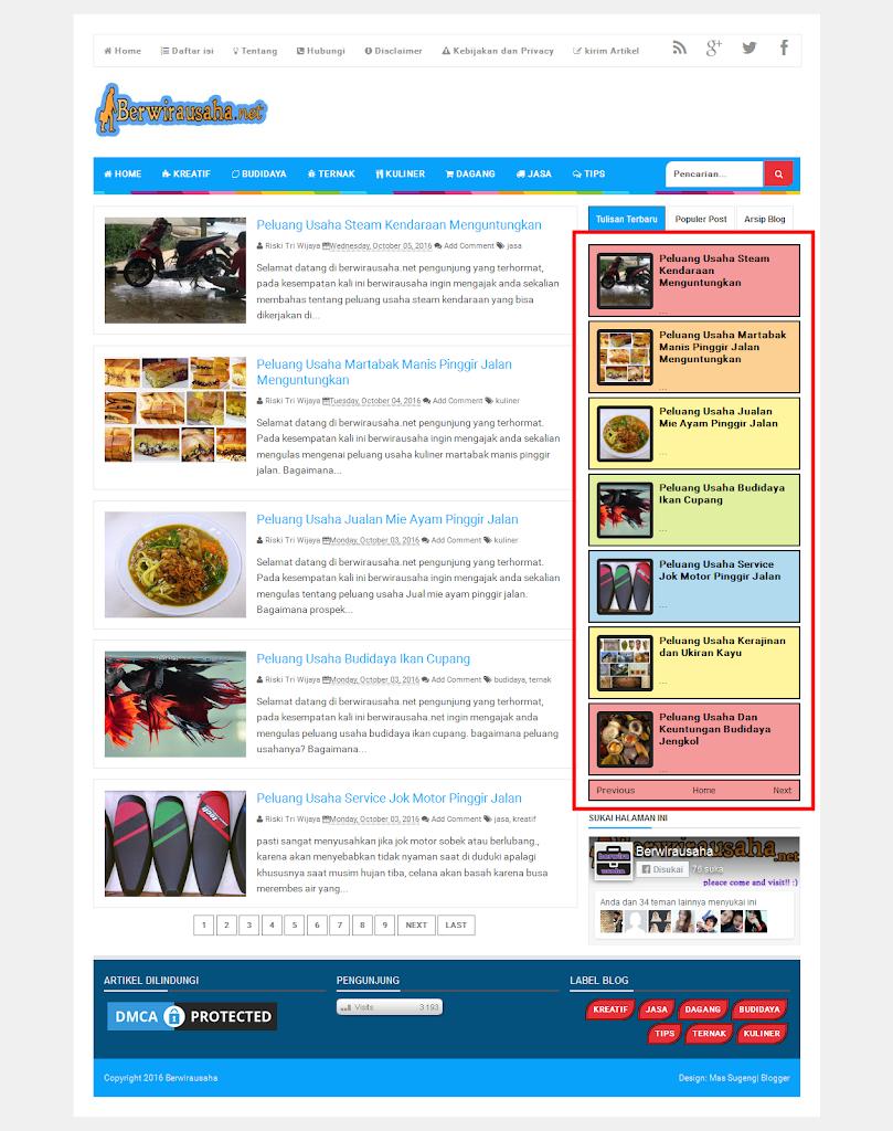 cara buat recent post blog paling keren dan mudah - blog