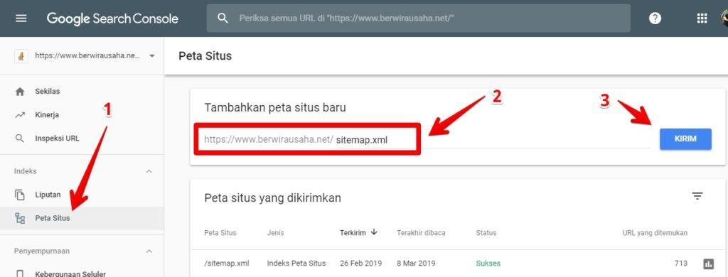 Cara Submit url ke Webmaster Agar Cepat Terindex - blog